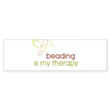 Beading is my Therapy Bumper Sticker (50 pk)