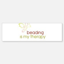 Beading is my Therapy Bumper Sticker (10 pk)