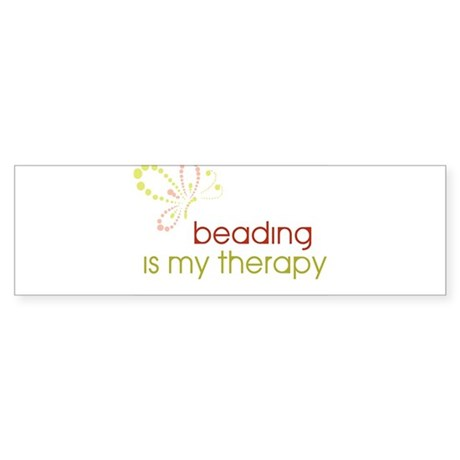 Beading is my Therapy Bumper Sticker