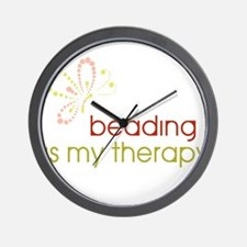 Beading is my Therapy Wall Clock