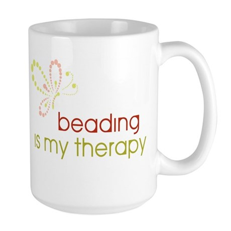 Beading is my Therapy Large Mug