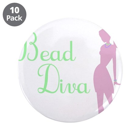 "Bead Diva 3.5"" Button (10 pack)"