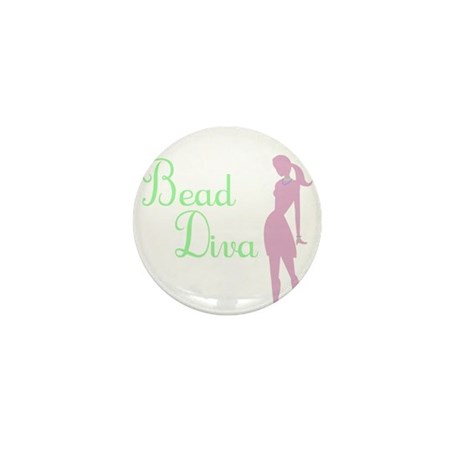 Bead Diva Mini Button (100 pack)