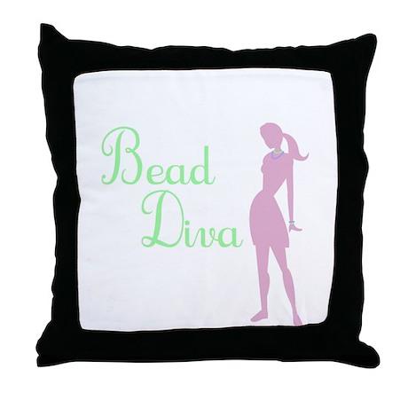 Bead Diva Throw Pillow