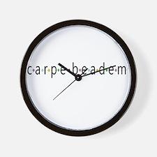 Carpe Beadem Wall Clock