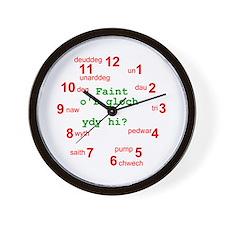 Cloc Gwal Cymraeg - Welsh Wall Clock