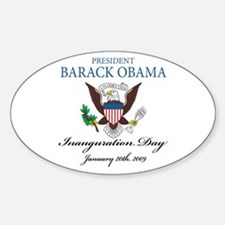 President Obama inauguration Oval Decal