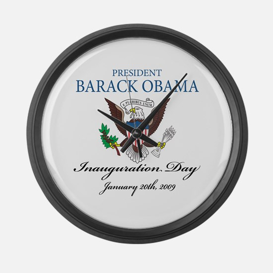 President Obama inauguration Large Wall Clock