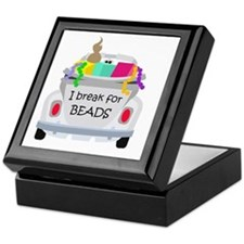 I brake for beads Keepsake Box