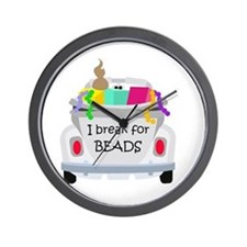 I brake for beads Wall Clock