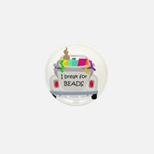 I brake for beads Mini Button (10 pack)
