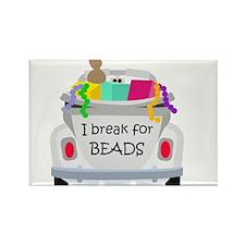 I brake for beads Rectangle Magnet