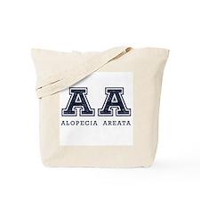 AA Alopecia Areata Blue Tote Bag