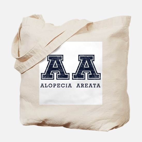 AA Alopecia Areata Blue Tote Bag