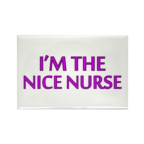 Pink Nice Nurse Rectangle Magnet (10 pack)