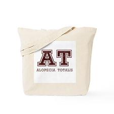 AT Alopecia Totalis Maroon Tote Bag