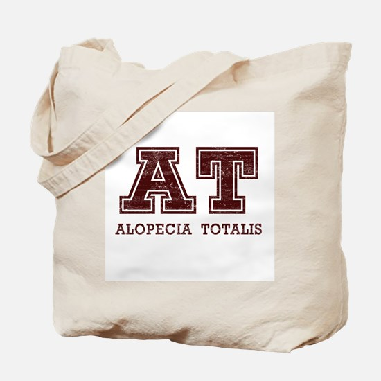 AT Alopecia Totalis Maroon Tote Bag