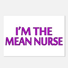 I'm The Mean Nurse Postcards (Package of 8)