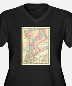 Vintage Map of Westchester New Y Plus Size T-Shirt