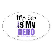 My Son is My Hero (HL) Oval Sticker (10 pk)