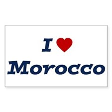 I HEART MOROCCO Rectangle Decal