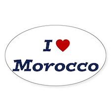 I HEART MOROCCO Oval Decal