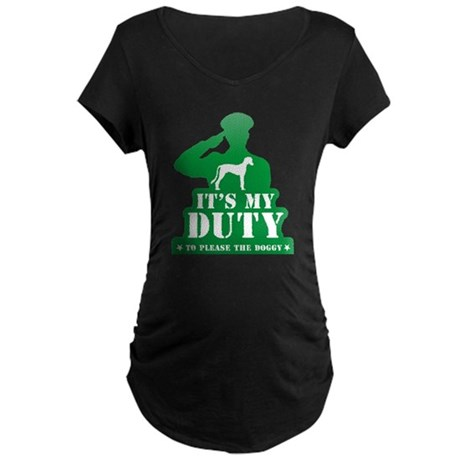 Saluki Maternity Dark T-Shirt