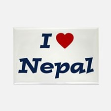 I HEART NEPAL Rectangle Magnet