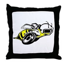 SUPER BEE 2 Throw Pillow