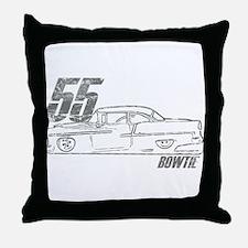 '55 Bowtie Distressed Throw Pillow