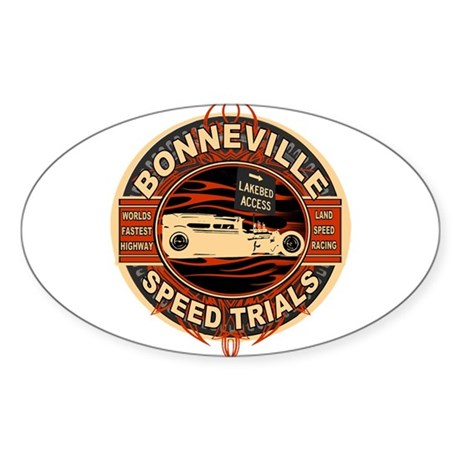 BONNEVILLE SALT FLAT TRIBUTE Oval Sticker