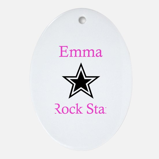 Emma - Rock Star Oval Ornament