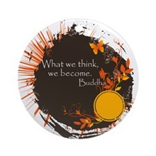 Buddha Quote Ornament (Round)