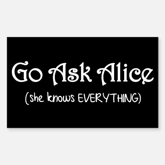 Go Ask Alice Twilight Rectangle Decal