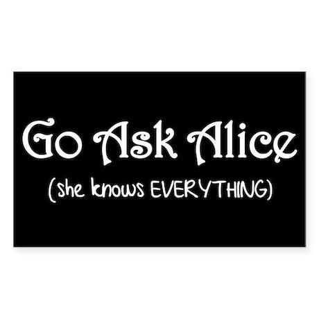 Go Ask Alice Twilight Rectangle Sticker