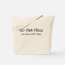 Go Ask Alice Twilight Tote Bag