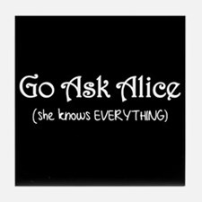 Go Ask Alice Twilight Tile Coaster