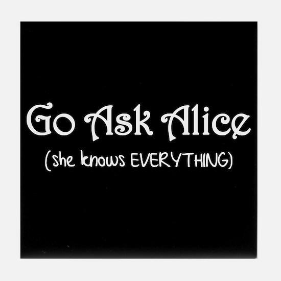 Go Ask Alice Twilight Tile Coaster