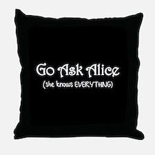Go Ask Alice Twilight Throw Pillow