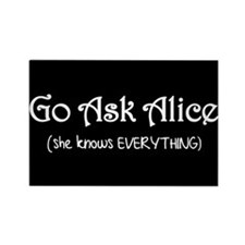 Go Ask Alice Twilight Rectangle Magnet