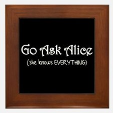 Go Ask Alice Twilight Framed Tile
