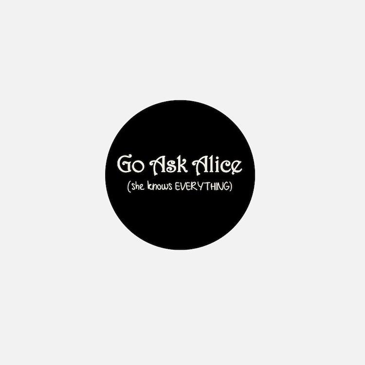 Go Ask Alice Twilight Mini Button