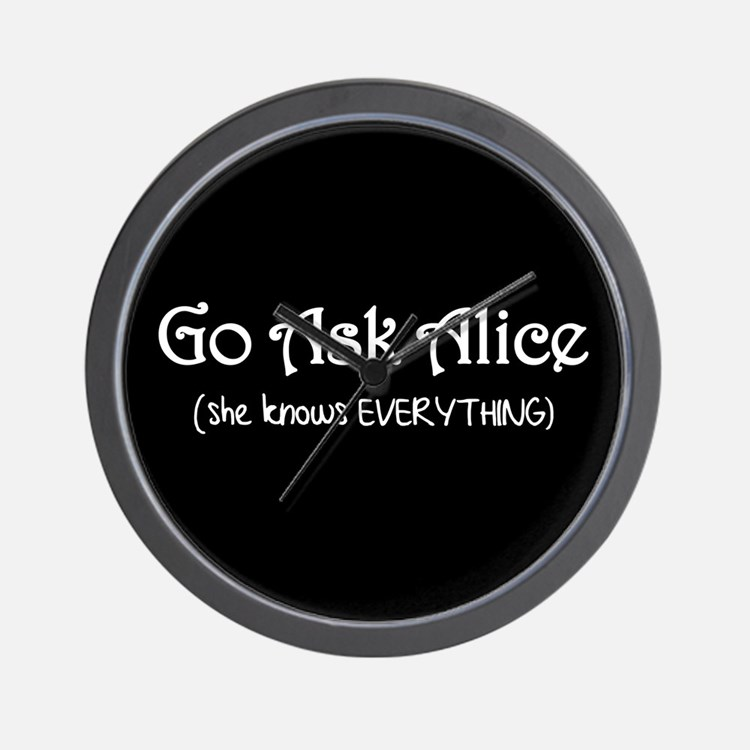 Go Ask Alice Twilight Wall Clock