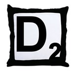 D2 Throw Pillow