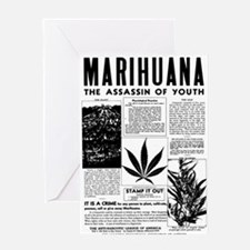 MARIHUANA: The Assassin of Youth Greeting Card