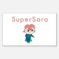 SuperSara Rectangle Decal