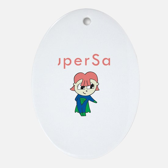 SuperSara Oval Ornament