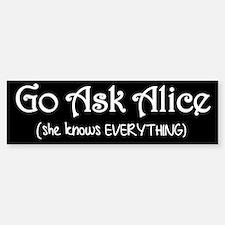 Go Ask Alice Twilight Bumper Bumper Bumper Sticker