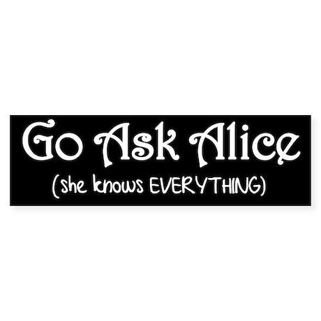 Go Ask Alice Twilight Bumper Sticker