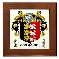 Considine Coat of Arms Framed Tile